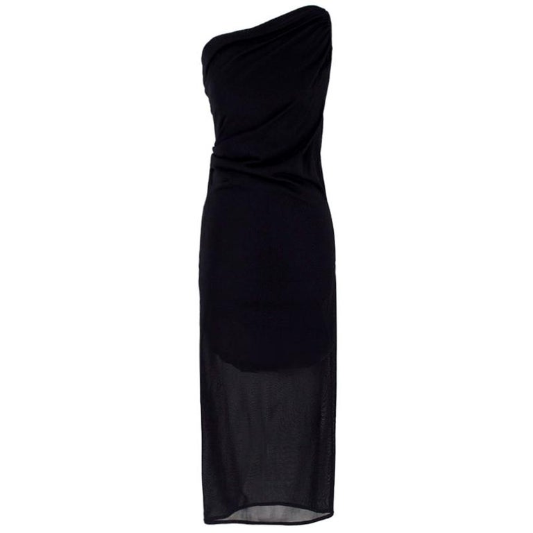 Alexander McQueen one-shoulder midi dress US 4 For Sale