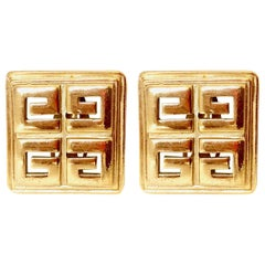 Givenchy 1980s Vintage Clip On Statement Earrings