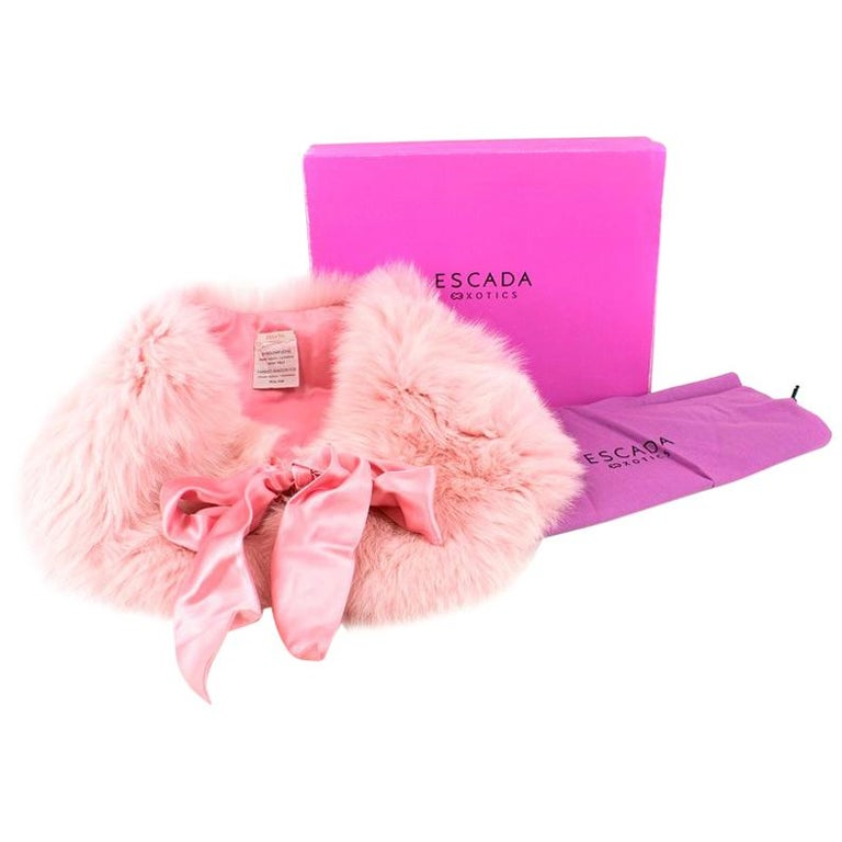 277783a15e Escada Pink Shadow Fox Fur Shrug For Sale at 1stdibs
