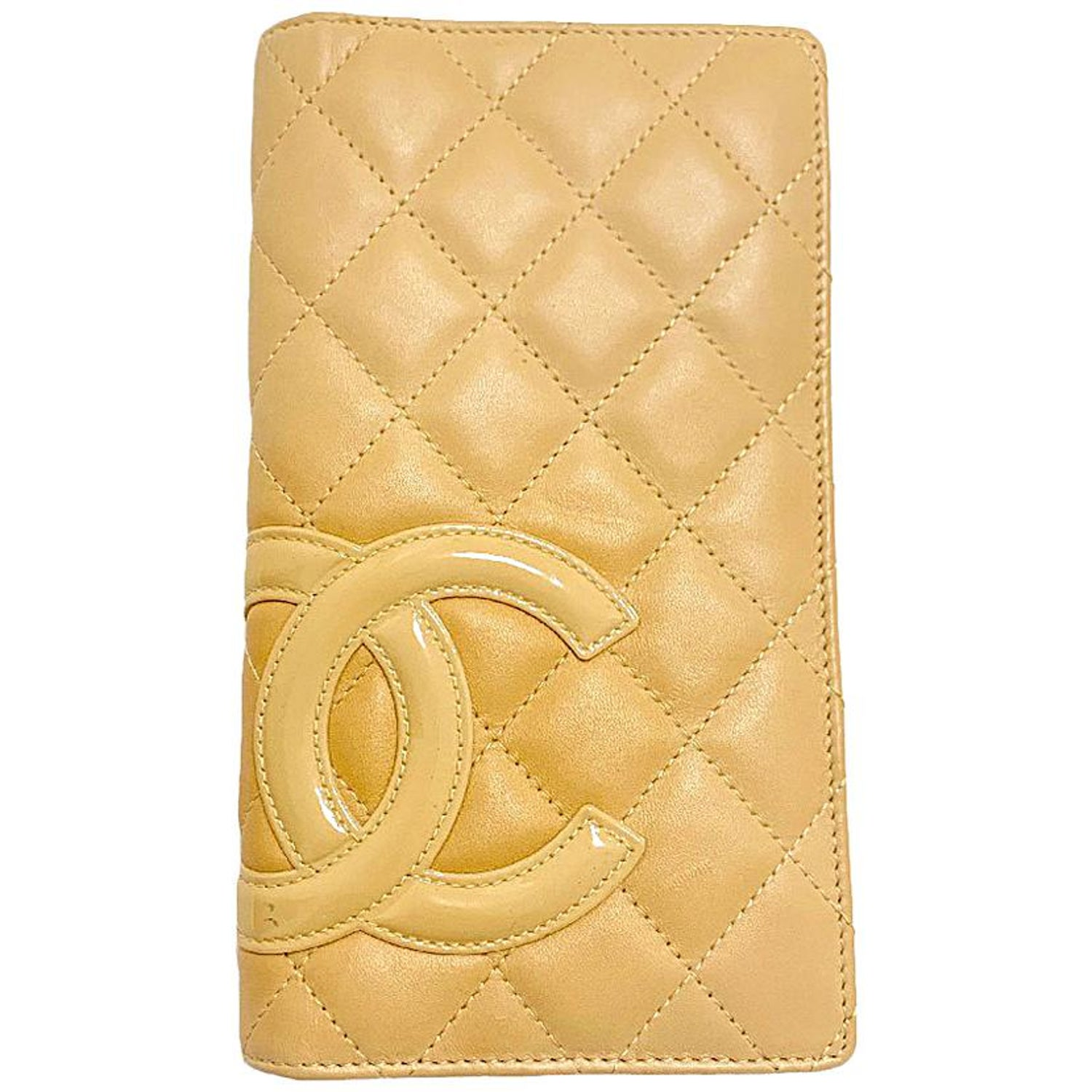 6c5541403381 CAHNEL Cambon Wallet in Beige Quilted Lamb Leather at 1stdibs