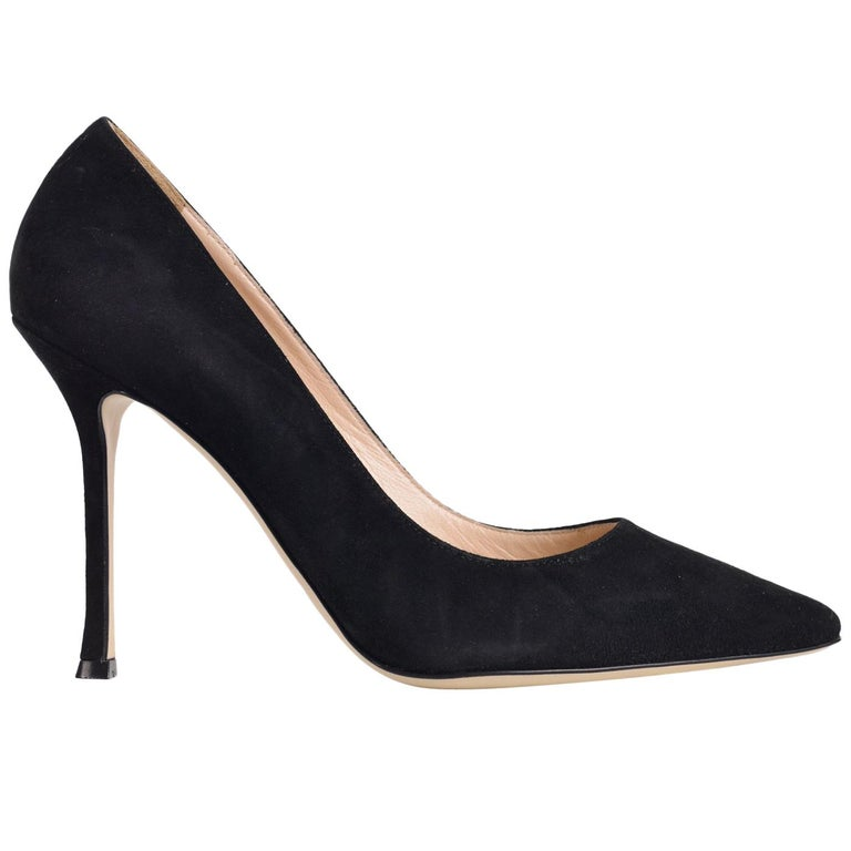 086fee5bb735 Sergio Rossi Womens Black Suede Scarpe Donna Classic Pumps For Sale at  1stdibs