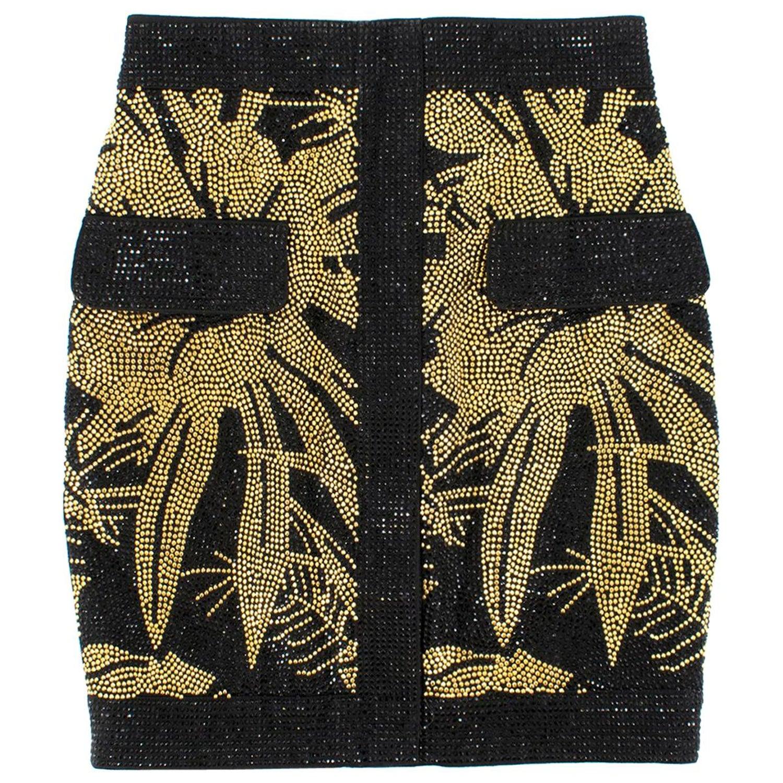 9d68abcdfcd Balmain palm stud-embellished mini skirt US 4 at 1stdibs