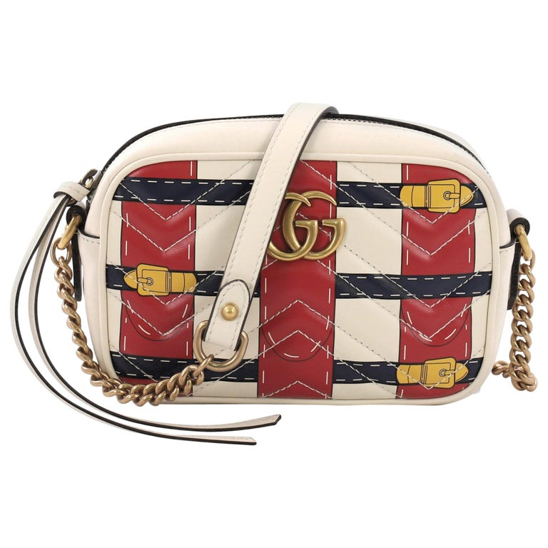 bd3331c5b Gucci GG Marmont Shoulder Bag Limited Edition Printed Matelasse Leather  Mini For Sale