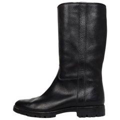 Gravati Black Leather Mid Calf Boots Sz 7.5