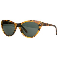Ralph Lauren Matte Tortoise Cat Eye Sunglasses W/ Case