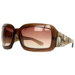 Badgley Mischka Brown Lillian Sunglasses W/ Feather Arms
