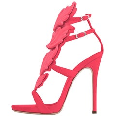 Giuseppe Zanotti NEW Coral Pink Leather Metal Evening Sandals Heels in Box