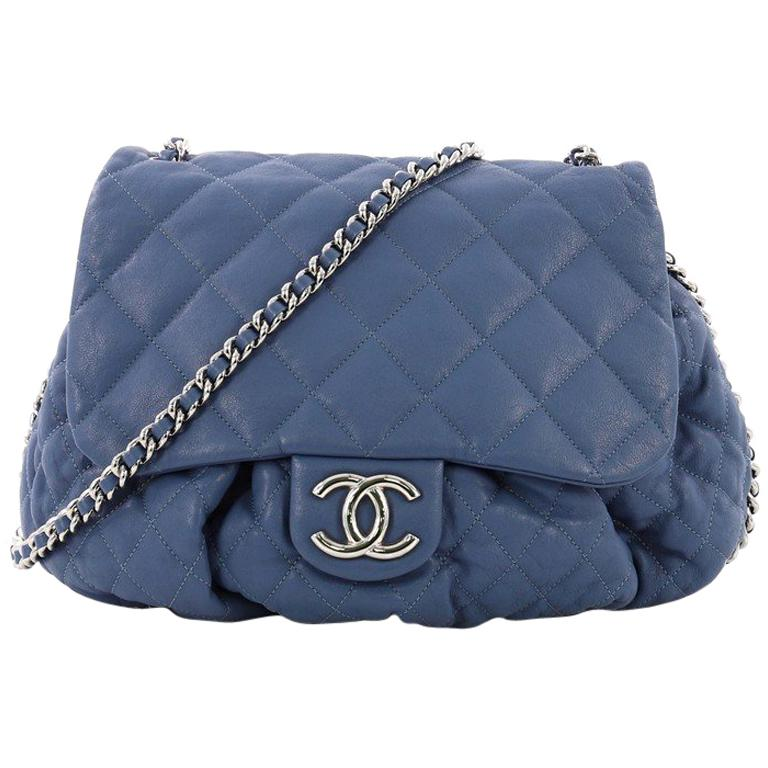 bc79e69e14af Chanel Chain Around Flap Bag Quilted Leather Large at 1stdibs