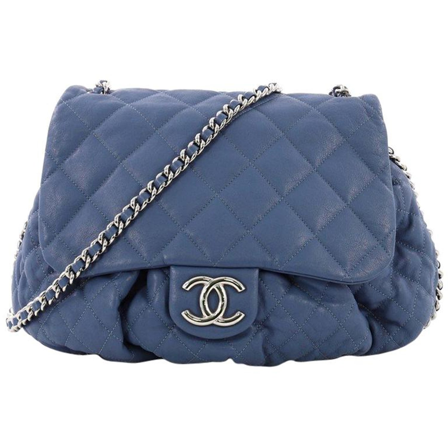 0790fca248fa Chanel Chain Around Flap Bag Quilted Leather Large at 1stdibs