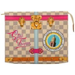 New in Box Louis Vuitton Limited Edition Damier St Tropez Trousse Bag