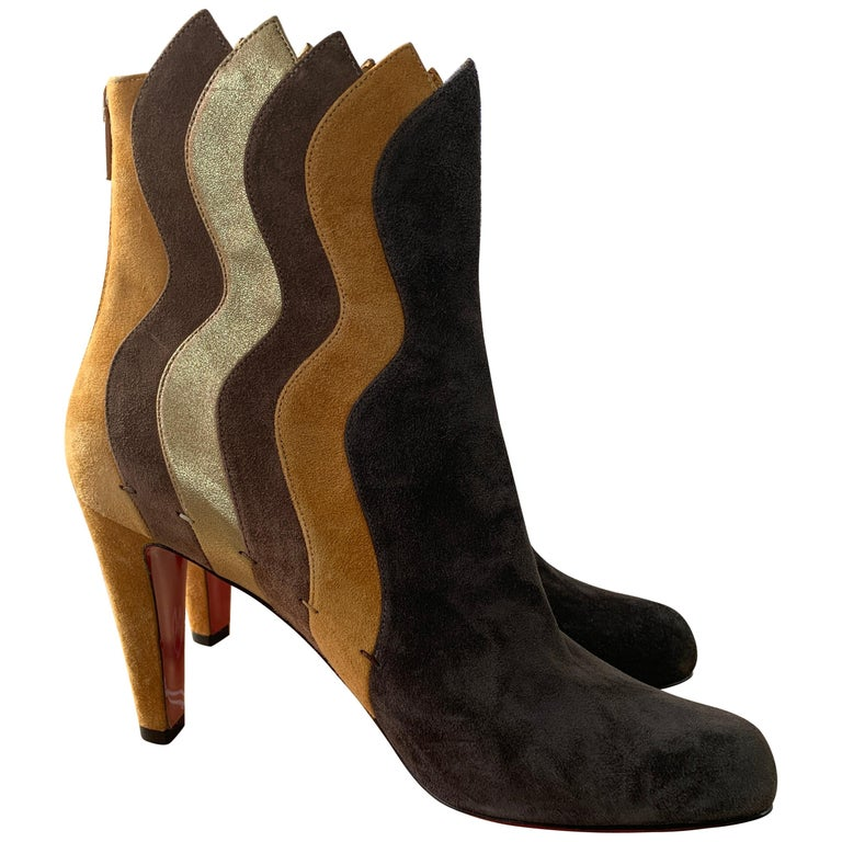 super popular 7af86 85d98 Christian Louboutin Brown Suede Boots