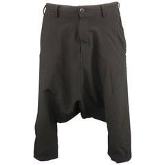 COMME des GARCONS BLACK Size M Black Nylon Blend Cropped Drop-Crotch Pants