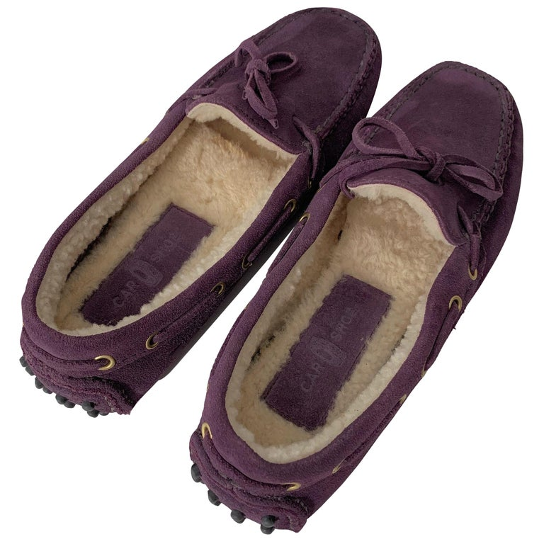 3c6d42d726b New The Original Prada Car Shoe Flat Moccasin Shearling House Driving Sz 38  For Sale