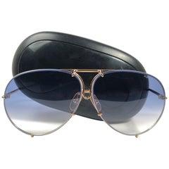 New Vintage Porsche Design By Carrera 5621 White Gold Large Sunglasses Austria
