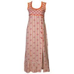 1960s Long Summer Dress