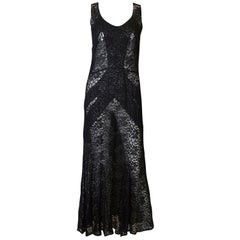 Vintage 1930s Black Lace Dress