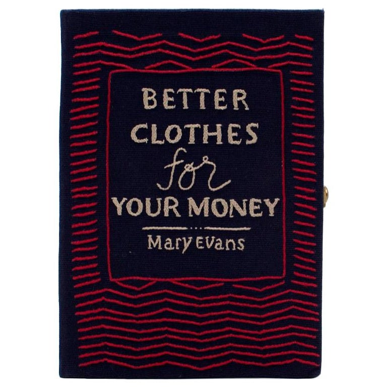 Olympia Le Tan 'Better Clothes For Your Money' Book Clutch For Sale