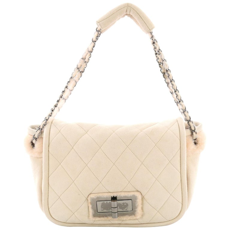 3831ce6c4458 Chanel Reissue Flap Bag Quilted Suede and Shearling Small For Sale ...