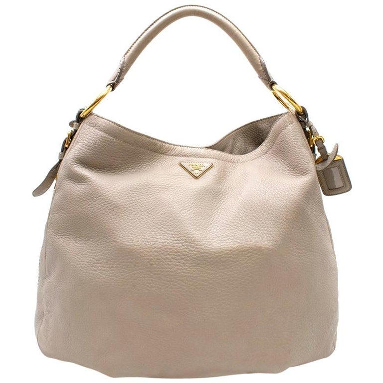 ee9cc2199336c7 Prada Deerskin Leather Large Shoulder Tote at 1stdibs