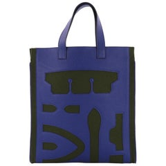Hermes Vertical Petit H Skeleton Tote Felt and Leather GM