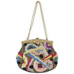Art Deco Tapestry Evening Bag, France