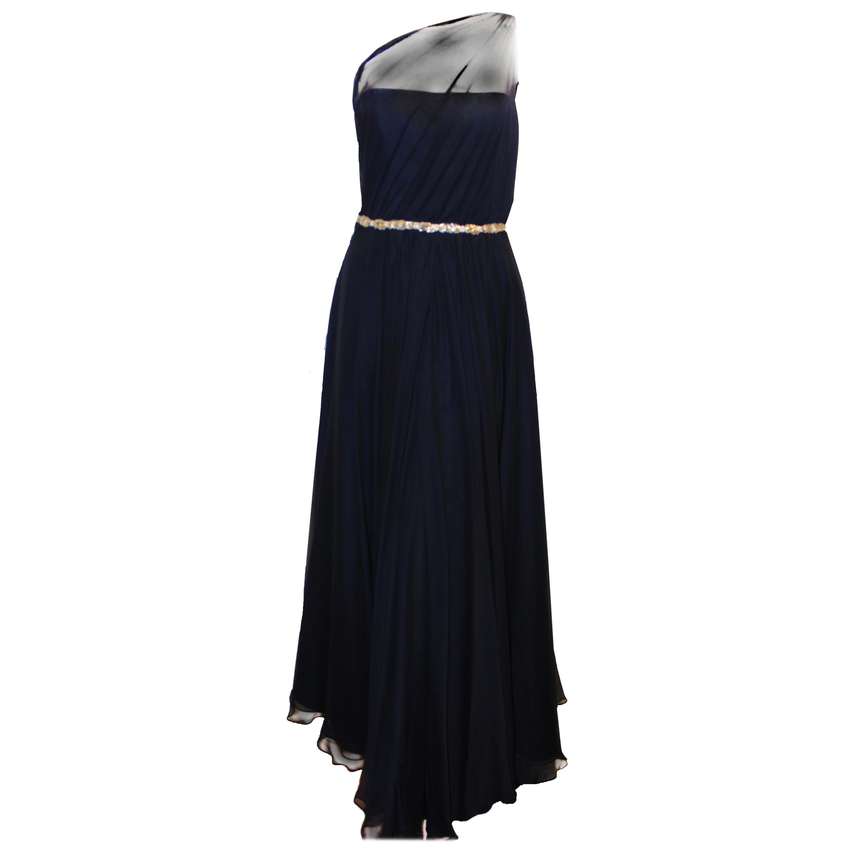 d979534f6406 Brunello Cucinelli's Brilliantl Gunmetal Silk and Linen Long Dress For Sale  at 1stdibs
