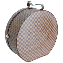Louis Vuitton Damier Canvas Boite Chapeaux Hat Box Luggage 50cm Travel Bag Rare