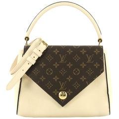 Louis Vuitton Doppel V Handtasche Kalbsleder und Monogram Leine
