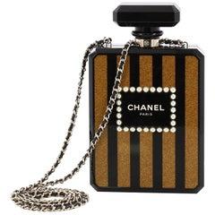 Chanel Perfume Bottle Minaudiere Pearl Embellished Plexiglass