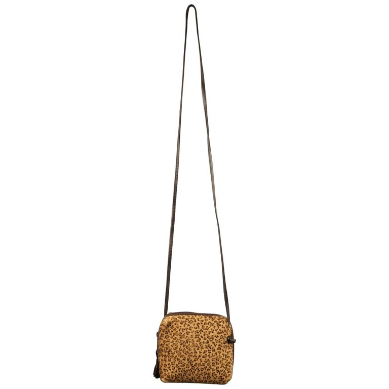 14d6dcd4b0c3 BOTTEGA VENETA Leopard Pony Hair Mini Cross Body Handbag For Sale. Vintage  BOTTEGA VENETA mini crossbody bag comes in leopard print ...