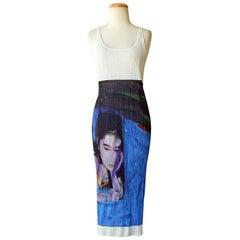 Issey Miyake 1997 Pleats Please Guest Artist Series No. 2 Nobuyoshi Araki Dress