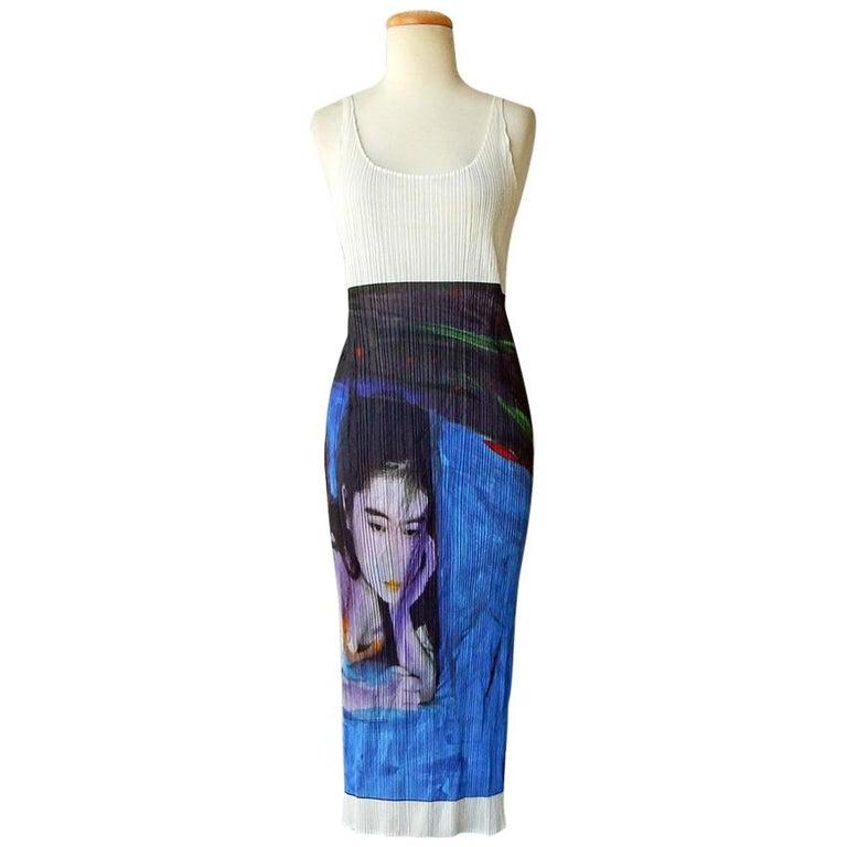 Issey Miyake 1997 Pleats Please Guest Artist Series No. 2 Nobuyoshi Araki Dress For Sale