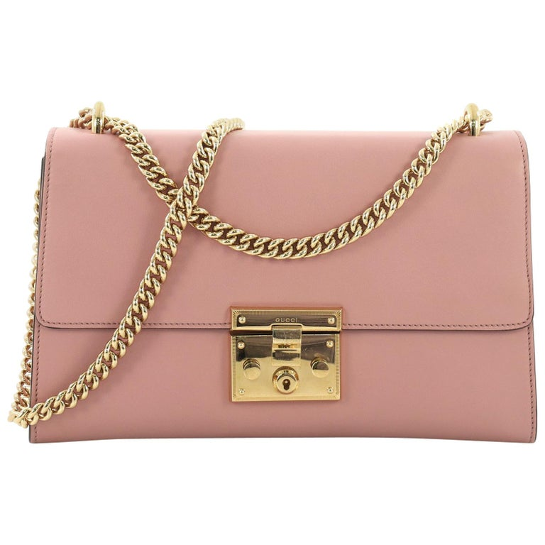 a511e425240b Gucci Padlock Shoulder Bag Leather Medium For Sale at 1stdibs