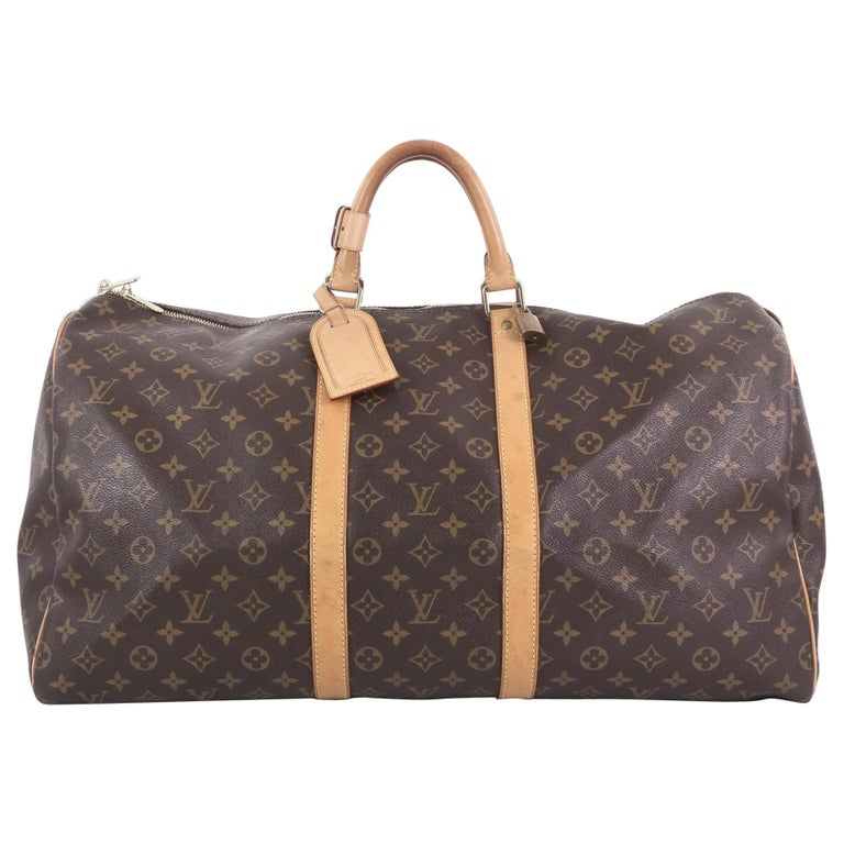 Louis Vuitton Keepall Bag Monogram Canvas 55 For Sale