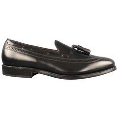 ALLEN EDMONDS Size 9.5 Manchester Black Wingtip Leather Tassel Loafers