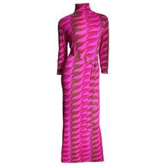 1970s La Mendola Maxi Dress