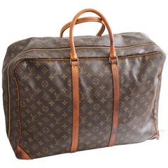 Louis Vuitton Monogram Sirius Suitcase 50cm Luggage Weekender Travel Bag 80s