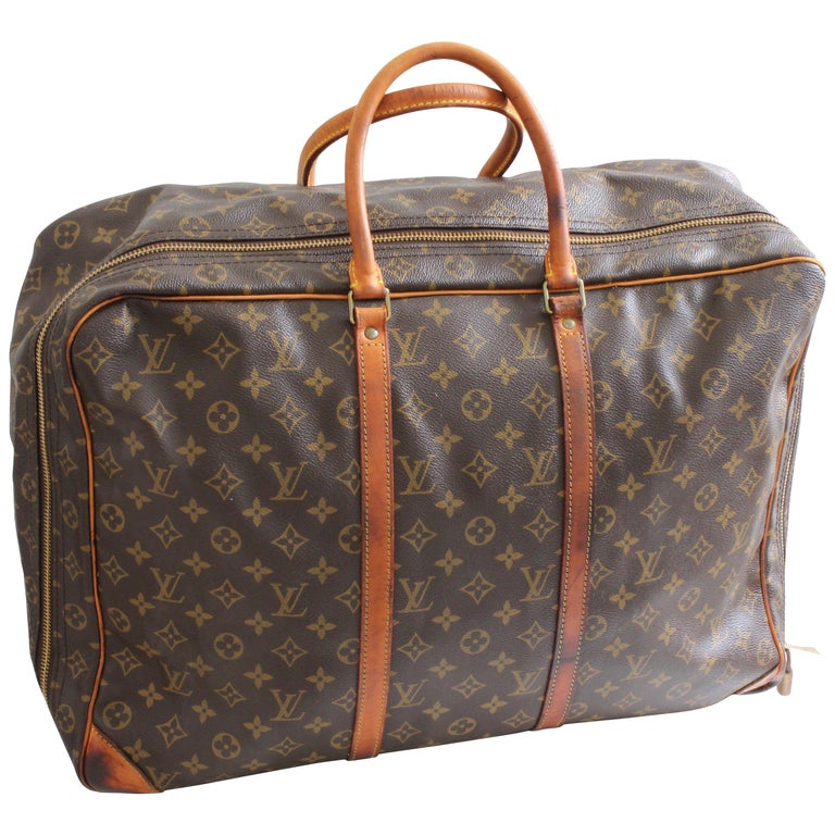 54fbb3b1d42 Louis Vuitton Monogram Sirius Suitcase 50cm Luggage Weekender Travel Bag  80s For Sale