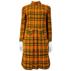 Jeanne Lanvin Mini Dress Demi Couture in Scottish Tartan Circa 1968/1970