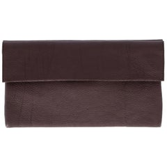 Marni Vintage Brown Leather Clutch, 2000s