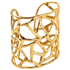 Giulia Barela Africa Gold-Plated Bronze Cuff Bracelet