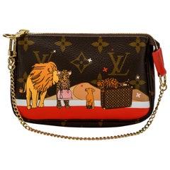 New in Box Louis Vuitton Limited Edition Lions Ghepards Pouchette Bag