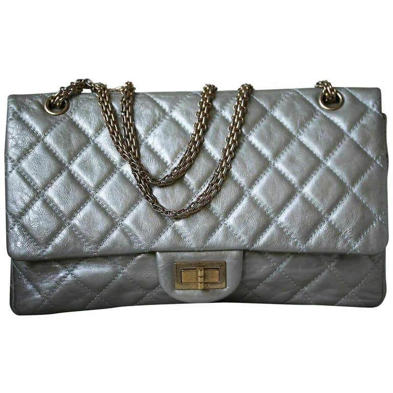 4555b77d20e1 Chanel 2.55 Reissue Metallic Calfskin Quilted Flap Bag For Sale at ...