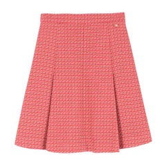 Chanel Tweed Pleated A-line Skirt US 6