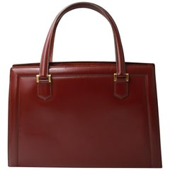 60's Hermes Vintage Pullman Burgundy Box Leather Bag