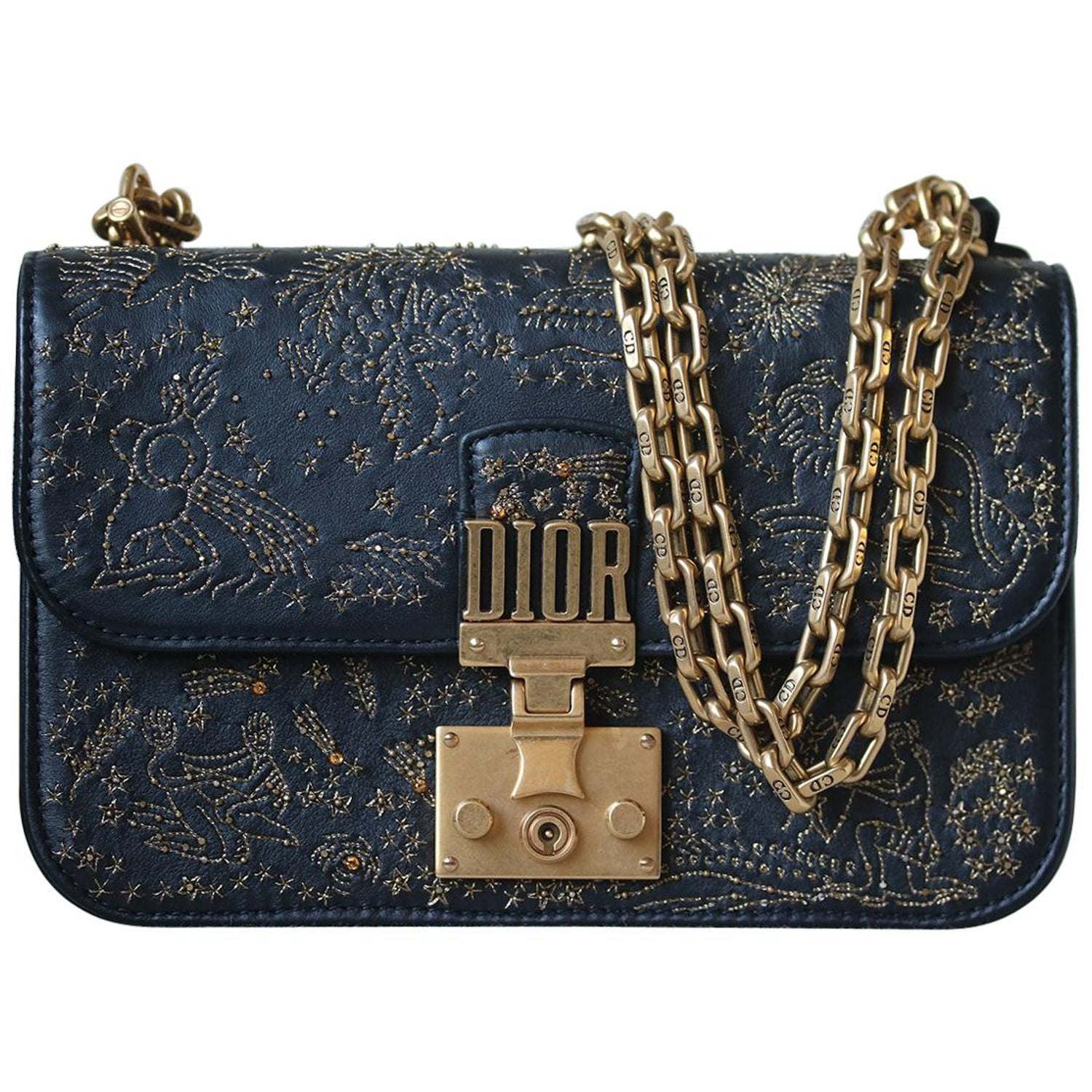 3bb3cd08a1 Christian Dior DiorAddict Embroidered Leather Bag at 1stdibs