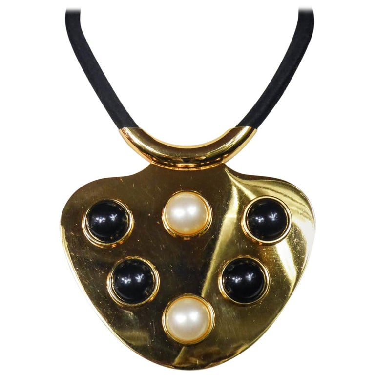 Iconic Space Age Necklace by Lanvin Circa 1970 For Sale