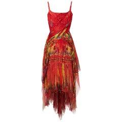 Alexander McQueen, Irere chiffon dress Spring/Summer 2003