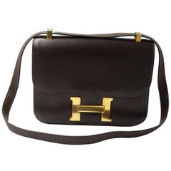 Vintage Dark Brown Hermes Constance Bag