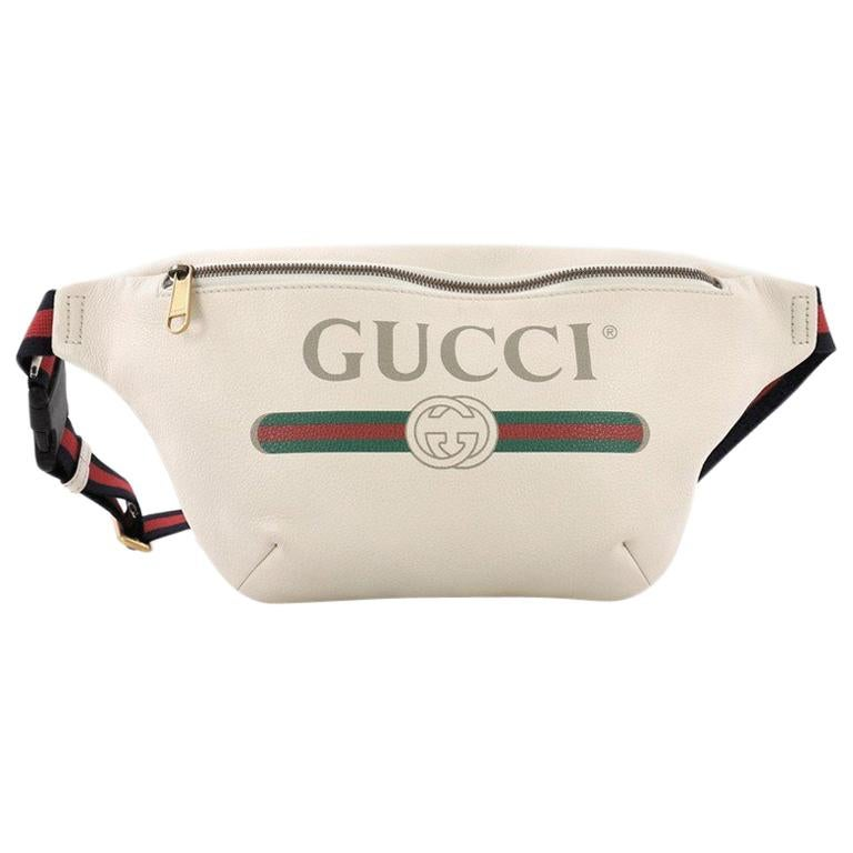11eb5690d91 Gucci Logo Belt Bag Printed Leather Small at 1stdibs